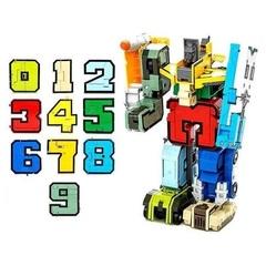 Цифры Трансформеры в чемодане
