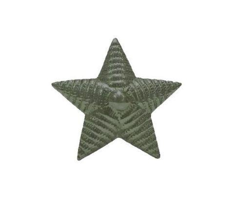 Звезда на погоны мет. 13 мм. риф. защ.