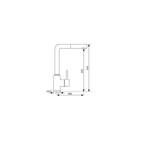Смеситель для мойки Kuppersberg GEO KG2385CR WHITE