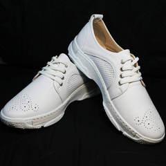 Белые женские кроссовки туфли спортивные Derem 18-104-04 All White