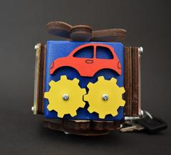 Бизикубик стандарт 5х5 см синий для мальчика