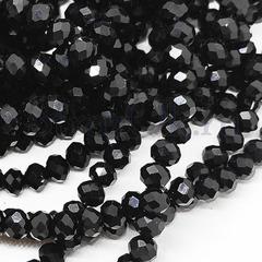 Бусины рондели черные Jet Black купить оптом в интернет-магазине
