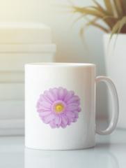 Кружка с изображением Цветы (Герберы) белая 004