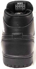 Высокие кеды кроссовки зима мужские Nike Air Jordan 1 Retro High Winter BV3802-945 All Black