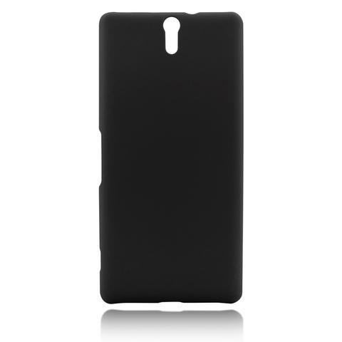 Пластиковая накладка для Xperia C5 Ultra чёрного цвета