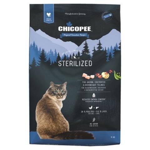 8 кг.  Chicopee HNL Cat Sterilized сухой корм для стерилизованных кошек