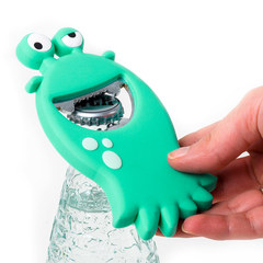 Открывалка Monster бирюзовая магнитная, фото 1