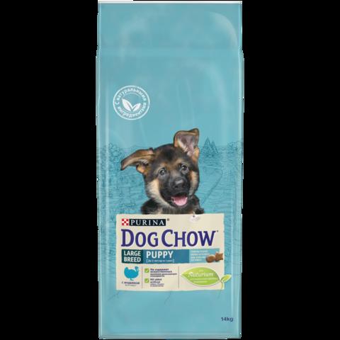 DOG CHOW Puppy Large Breed сухой корм с индейкой для щенков крупных пород до 2 лет 14 кг