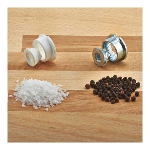 Набор мельниц для перца и соли Sherwood Black Gloss 200 мм, 2 шт.