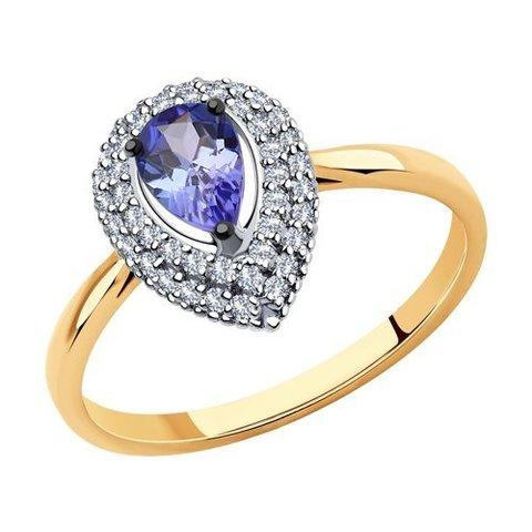 6014138 - Кольцо из золота с бриллиантами и танзанитом