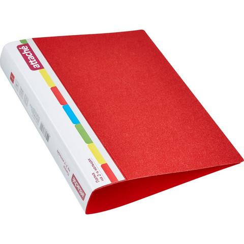 Папка на 2-х кольцах Attache 42 мм красная до 250 листов (пластик 0.7 мм)
