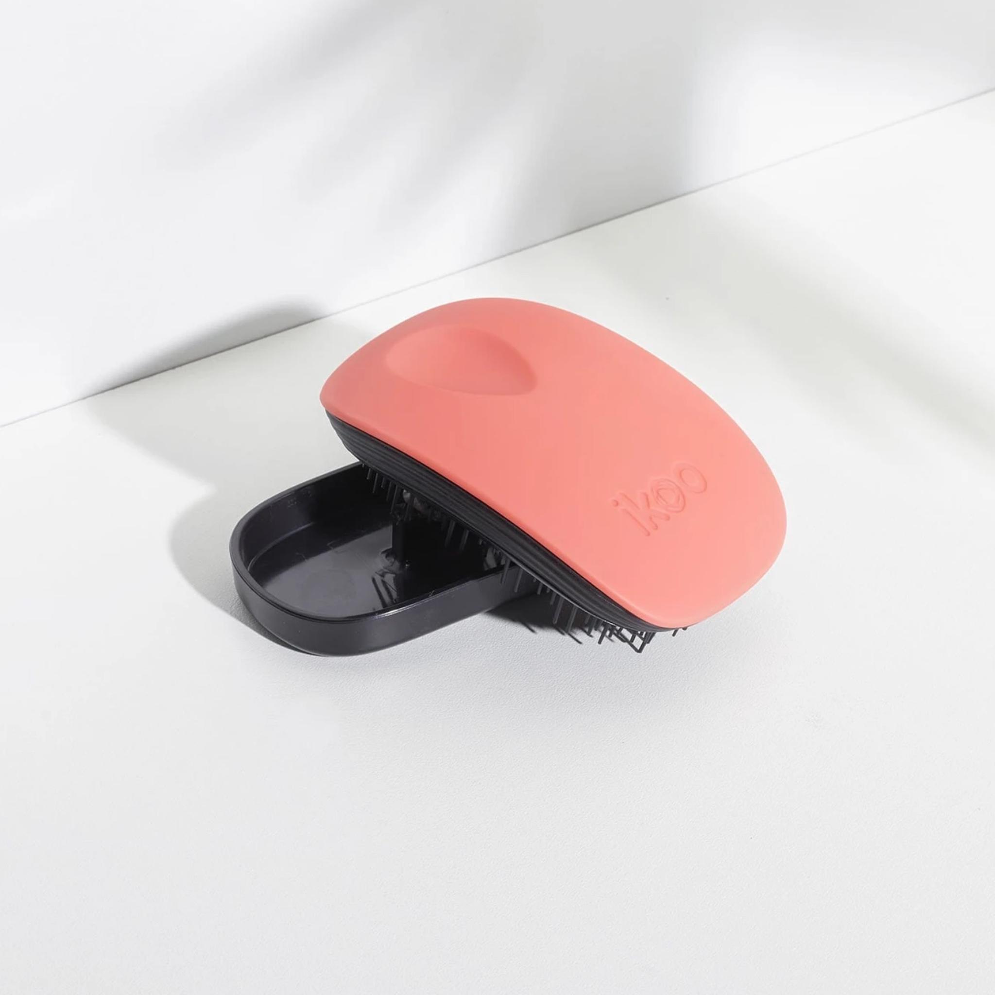 pocket orange blossom black   расческа-детанглер для сумочки Оранжевый цветок