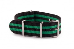 Nato Strap Black Green