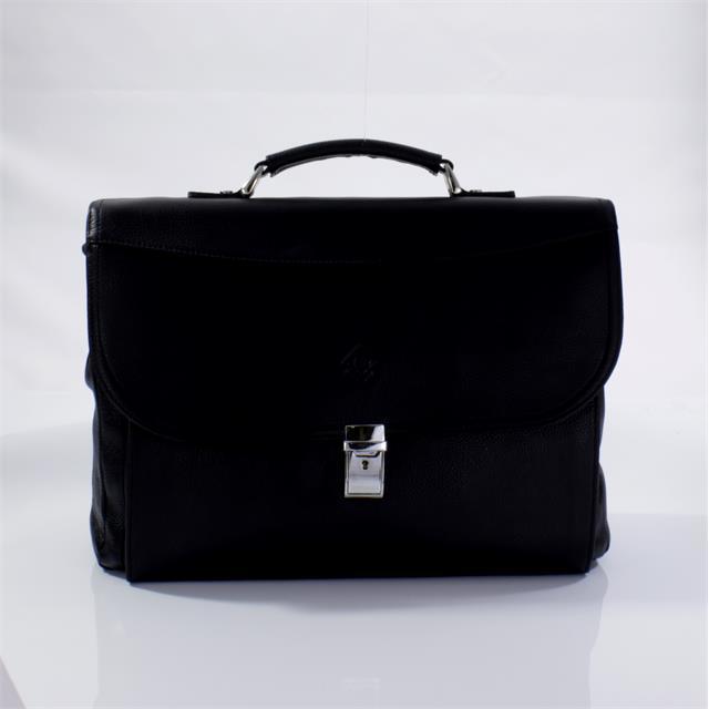 Кожаный портфель черный Fidelio Largo 029-1 black FL