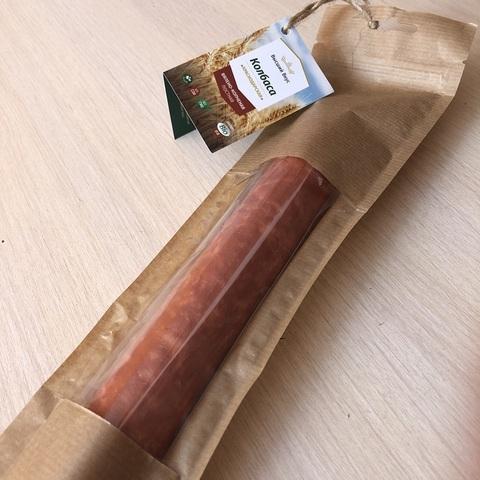 Колбаса Вялено-копченая Краснодарская пшеничная 250г Высший Вкус