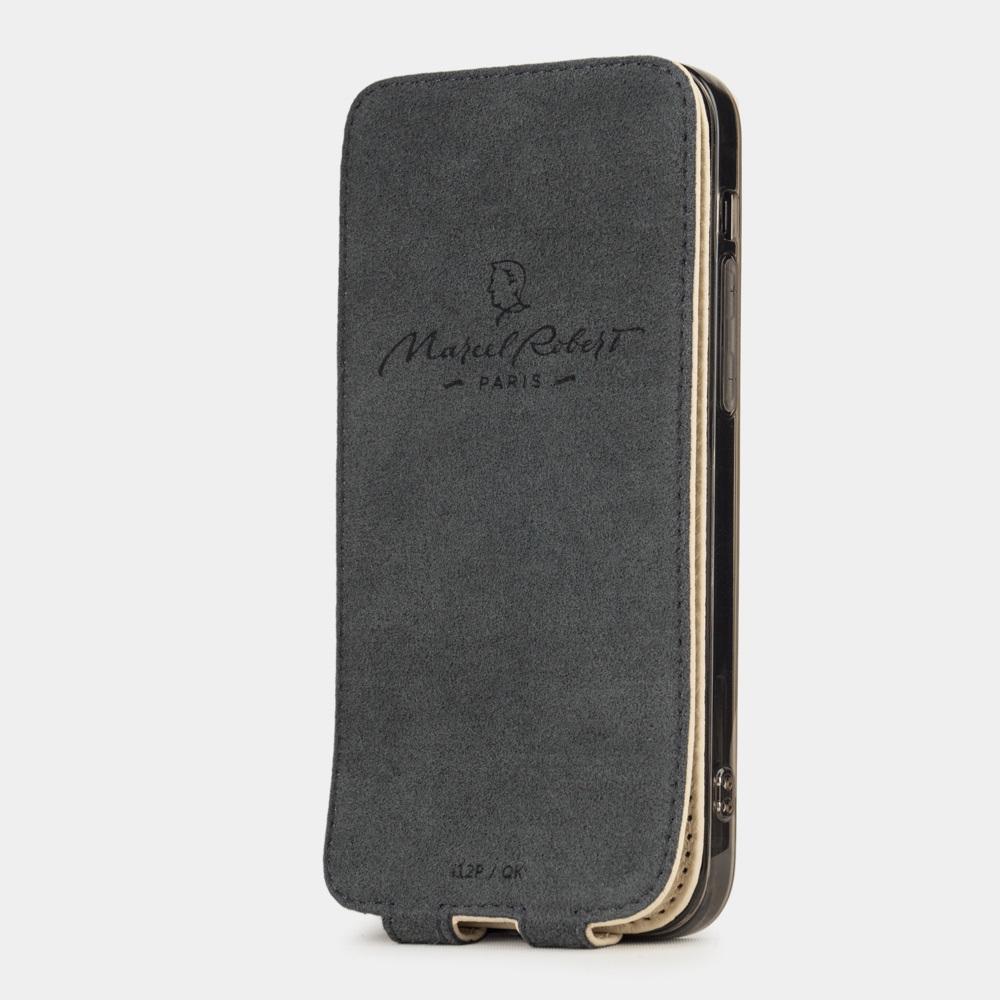 Чехол для iPhone 12 Mini из натуральной кожи теленка, молочного цвета