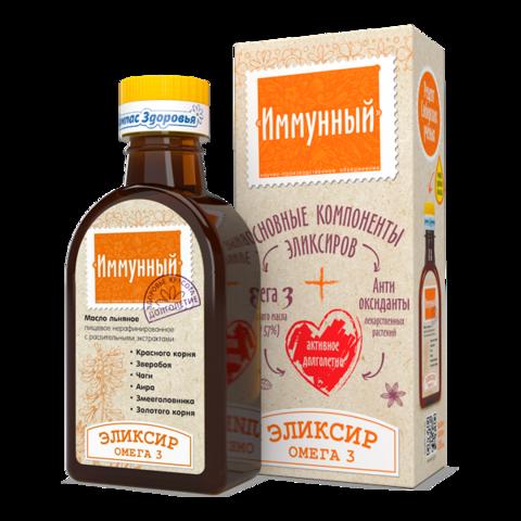 Масло льняное Иммунный эликсир 200 мл (Компас здоровья)