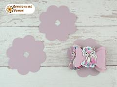Подложка для резинок и заколок  цветок светло-лиловая №13