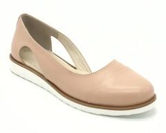 Туфли лето пудрового  цвета из натуральной кожи