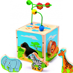Игрушки из дерева Куб-сортер с лабиринтом
