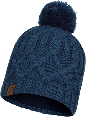Шапка вязаная с флисом Buff Hat Knitted Polar Slay Ensign Blue фото 1