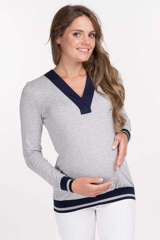 Джемпер для беременных 08623 серый