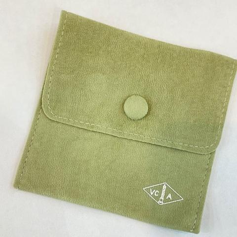 Мешочек бархатный на кнопке для упаковки украшений