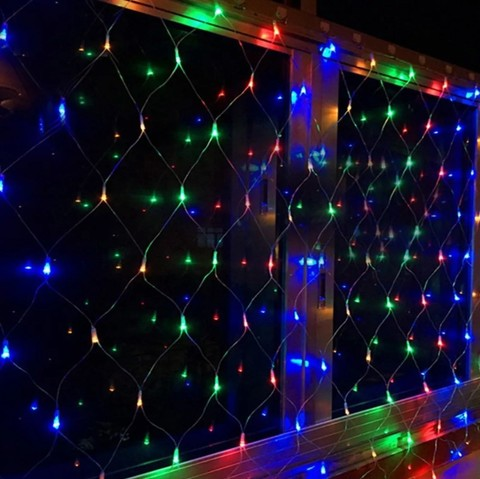 Гирлянда сетка LED Размер 150*150 Разноцветная