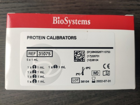 31075 Калибратор белков 5х1 мл.BioSystems,Испания