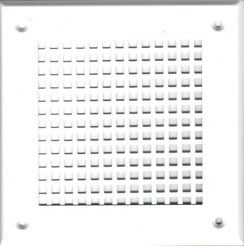 Решётка 150*150 белая, большая клетка