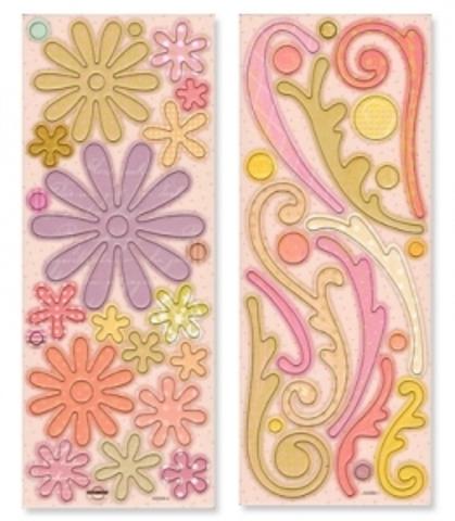 Картонные элементы (чипборд) Цветы