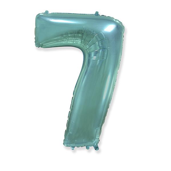 Фольгированная цифра 7, тиффани