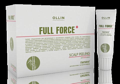 OLLIN FULL FORCE Пилинг для кожи головы с экстрактом бамбука 15 мл