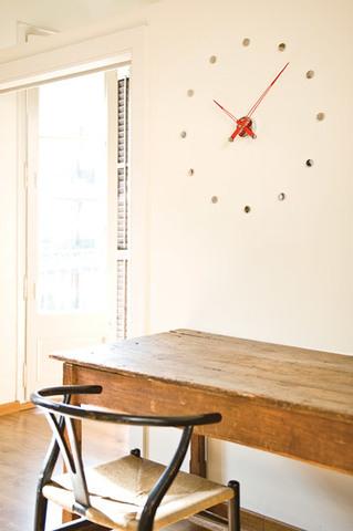 Настенные часы Rodon i 12 красный-хром