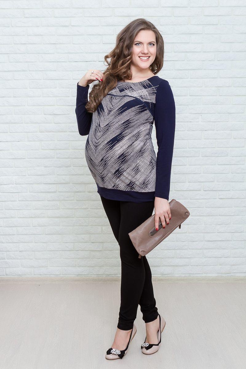 Туника для беременных и кормящих 07162 синий
