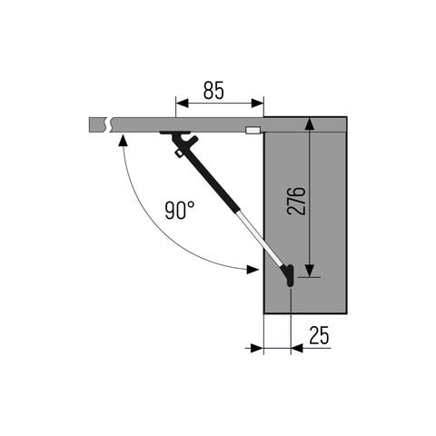 SETE Газовый подъёмник с амортизатором 60N