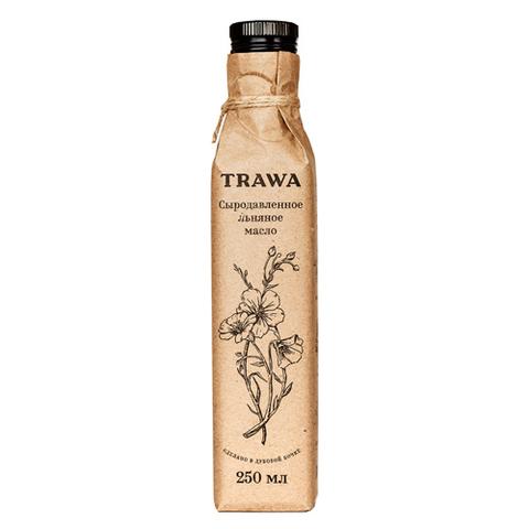 TRAWA, Масло сыродавленное льняное 250мл