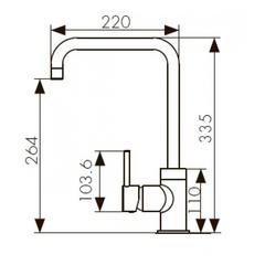 Смеситель KAISER Merkur 26844-1 песочный мрамор для кухни