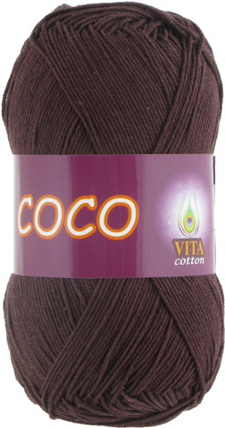 Пряжа Vita Coco 4322 темный шоколад