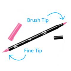 Маркер-кисть Tombow ABT Dual Brush Pen-703, розовая роза