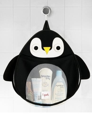 Органайзер для ванны 3 Sprouts Черный пингвин 00052