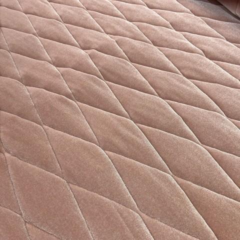 Ткань  курточная бархатная  светло-розовая 3179