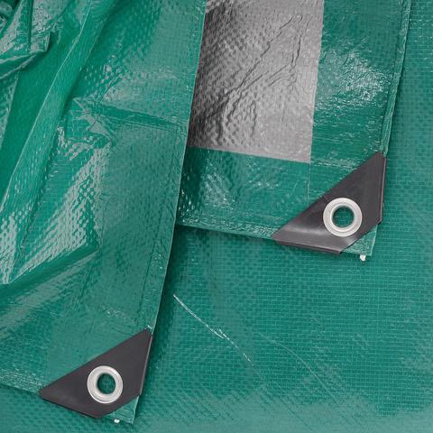 Тент тарпаулин, зеленый, 6 м х 8 м