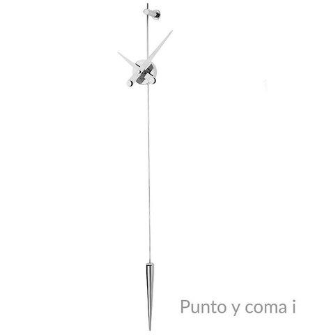 Часы Punto y Coma i хромированная сталь