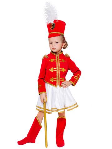 Карнавальный костюм детский Мажоретка в белой юбке