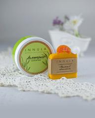 Соляной скраб для тела, «Лемонграсс», и мыло «Пряный апельсин», Россия