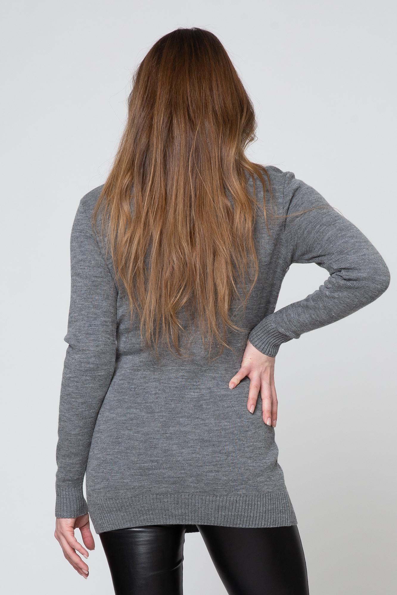 Свитер для беременных и кормящих 09210 серый