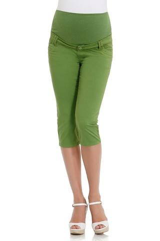 Капри для беременных 04246 зеленый
