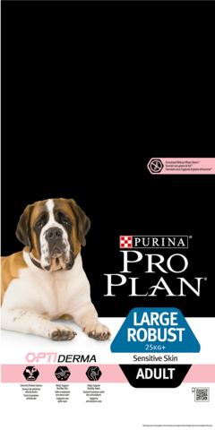 Large Adult Robust Sensitive Skin - для взрослых собак крупных пород с мощным телосложением с лососем и рисом