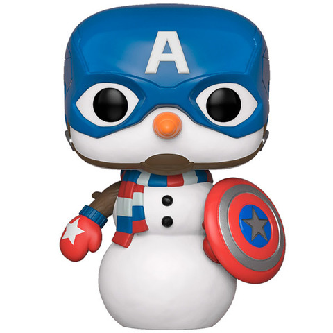 Фигурка Funko POP! Bobble: Marvel: Holiday: Capt America